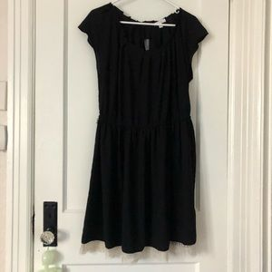 Black Lauren Conrad Dress with Lace Bottom